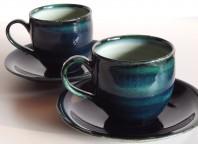 ヨシュアブルーアシェスコーヒー碗皿